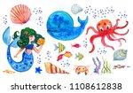 Sealife Children Watercolor...