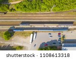 aerial view of railway station... | Shutterstock . vector #1108613318