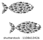 fish pair vector collage...   Shutterstock .eps vector #1108613426