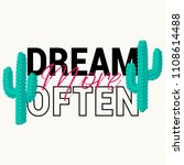 dream more often slogan with... | Shutterstock .eps vector #1108614488