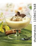dessert milk in glass | Shutterstock . vector #1108617668