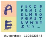 modern vector alphabet set.... | Shutterstock .eps vector #1108623545