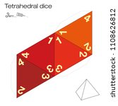 tetrahedron template  four... | Shutterstock .eps vector #1108626812