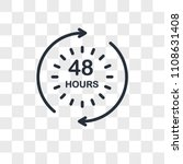 48 hours vector icon isolated... | Shutterstock .eps vector #1108631408