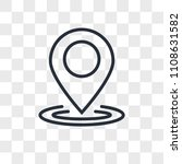 location vector icon isolated... | Shutterstock .eps vector #1108631582