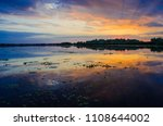sunset in the danube delta... | Shutterstock . vector #1108644002