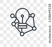 deep learning vector icon... | Shutterstock .eps vector #1108649228