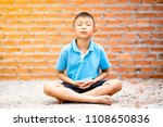 asian cute kid sitting... | Shutterstock . vector #1108650836