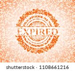 expired abstract orange mosaic... | Shutterstock .eps vector #1108661216