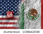 us and mexico  trade war and... | Shutterstock . vector #1108662038