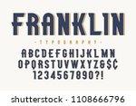 franklin trendy vintage display ... | Shutterstock .eps vector #1108666796