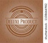 deluxe product wood emblem.... | Shutterstock .eps vector #1108666982