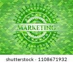 marketing green emblem. mosaic ...   Shutterstock .eps vector #1108671932