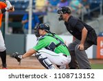 catcher   umpire on the field ...   Shutterstock . vector #1108713152