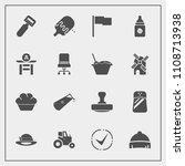 modern  simple vector icon set... | Shutterstock .eps vector #1108713938