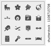 modern  simple vector icon set... | Shutterstock .eps vector #1108715708
