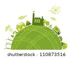 green world concept | Shutterstock . vector #110873516