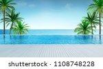 relaxing summer beach  ... | Shutterstock . vector #1108748228