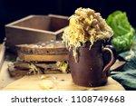 homemade sauerkraut pickling....   Shutterstock . vector #1108749668