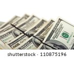 sheafs of 100 dollars banknotes