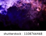 thickpink and purple smoke on a ... | Shutterstock . vector #1108766468