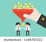 businessman and small money... | Shutterstock .eps vector #1108787222