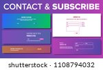 email contact  subscribe form... | Shutterstock .eps vector #1108794032