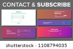 website subscribe form vector.... | Shutterstock .eps vector #1108794035