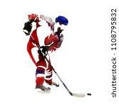 polygonal ice hockey player... | Shutterstock .eps vector #1108795832