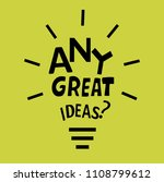 light bulb from quote.  | Shutterstock . vector #1108799612