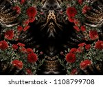 Roses Leopard Skin Background - Fine Art prints