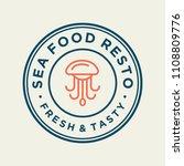 seafood octopus for restaurant... | Shutterstock .eps vector #1108809776