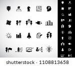 business training icon set | Shutterstock .eps vector #1108813658