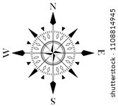 Compass Rose For Marine Or...