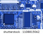 electronic circuit board close... | Shutterstock . vector #1108815062