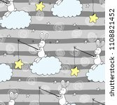 seamless pattern with cute... | Shutterstock .eps vector #1108821452