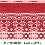 norway festive sweater fairisle ... | Shutterstock .eps vector #1108823468