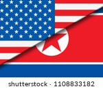 north korea and united states... | Shutterstock . vector #1108833182