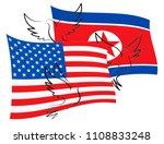 united states north korean... | Shutterstock . vector #1108833248