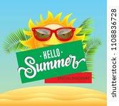 special discount  hello summer  ... | Shutterstock .eps vector #1108836728