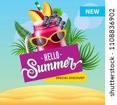 hello summer special discount... | Shutterstock .eps vector #1108836902