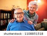 portrait of smiling senior... | Shutterstock . vector #1108851518