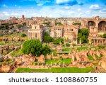 roman forum ancient ruins in... | Shutterstock . vector #1108860755