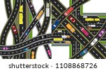 two abstract  multi level...   Shutterstock . vector #1108868726