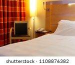 comfortable bedroom at night | Shutterstock . vector #1108876382
