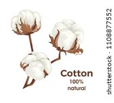 cotton balls isolated on white... | Shutterstock .eps vector #1108877552