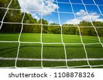 gate net and small empty soccer ... | Shutterstock . vector #1108878326
