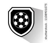 football ball and shield. logo... | Shutterstock .eps vector #1108901075