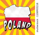 map of poland with national...   Shutterstock .eps vector #1108905218