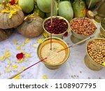 buddha and hindu fruits and...   Shutterstock . vector #1108907795